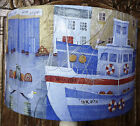 Harbour boats 2 Lamp Shade, shabby chic blue red Nautical Bathroom FREE GIFT
