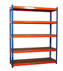Workshop Garage Warehouse Shed Storage Shelf Racking Unit Plastic/Metal 4/5 Tier <br/> HEAVY DUTY*BEST QUALITY*UK STOCK*IMMEDIATE DELIVERY*