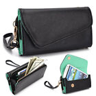 Fad Bicast Leather Protective Wallet Case Clutch Cover for Smart-Phones MLUB3