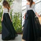 Lace Sexy Formal Evening Party Cocktail Bridesmaid Wedding Prom Gown Long Skirt