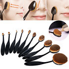 10PC Toothbrush Eyebrow Foundation Eyeliner Oval Cream Puff Makeup Brushes
