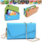 amazon xperia z case - Womens PU Leather Wallet Case Cover & Crossbody Clutch for Smart-Phones MLUB33