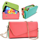 Womens PU Leather Wallet Case Cover & Crossbody Clutch for Smart-Phones MLUB26