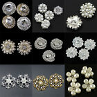 Pearl Crystal Rhinestone Buttons Sewing Craft Embellishment for Wedding Dress