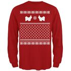 Shih Tzu Ugly Christmas Sweater Red Adult Long Sleeve T-Shirt