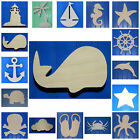 Wooden Shapes Nautical 10' Size Unpainted Wood Beach Pirate Sailing Wall Decor