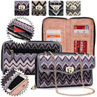 Women's Convertible Tribal Smartphone Wristlet Cover & Crossbody Purse SUNIS2-14