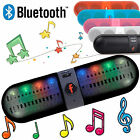 Mini Portable Bluetooth Wireless Speaker Super Bass LED For SmartPhone Tablet PC