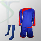 Football Team Kits - 15 x Rio Blue / Red - Full Team Kit - All Numbered !!!!