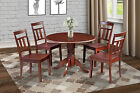 "42"" ROUND TABLE DINETTE KITCHEN DINING ROOM SET with 9"" LEAF"