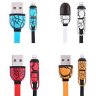 Retractable 2in1 IP5 Micro USB Charging Cable Adapter Flat Cable For IOS Android