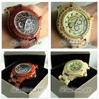 REAL WOODEN HIGH QUALITY HOUR DATE QUARTZ WOOD 3 ATM WRIST WATCH MENS WH251/252