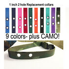 "3/4 "" Dog Fence Replacement Collar Strap  RFA 41 Camo + Colors"