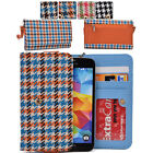 KroO ECMT12 Houndstooth Protective Wallet Case Clutch Cover for Smart-Phones