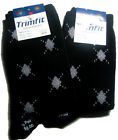 mb55 by excel Boys Cotton Dressy Crew Sock Small Diamond Socks Black Or Navy 349