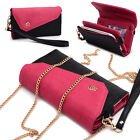 Womens Link Wallet Case & Crossbody Clutch Cover for Smart Cell Phones CRWL3