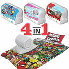 4 in 1 Official Disney Single Duvet Cover & 10.5 Tog Quilt Bedding Bundle Set