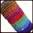 Gorgeous Sparkly Fabulous Thin Crystal Bangles Beautiful Colours by Chi22 London