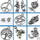 Tibetan Silver Pendant Charms Mixed