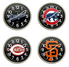 FCR9 MLB TEAM LOGO 11.38 ROUND WALL CLOCK SILVER FINISH PLASTIC FRAME