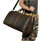 Men Real Leather Designer Suitcase Fashion Travel Luggage Duffle Gym Tote Bag