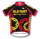 Old Fart Cycling Team Jersey men's short sleeve in black,red,yellow plus Socks