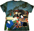 Hayabusa Samurai Japanese Art Print T Shirt Misses Cap Sleeve S M L XL New P&N