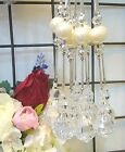 """12 STRINGS X 49"""" (1.25M) CURTAIN GARLAND * SHINNY CRYSTALS+BEADS"""