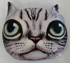 Tache Squishy Cute Novelty Cat Realistic Funny Decorative Microbead Throw Pillow