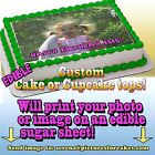 I print your photo face Cake Cupcakes Topper image SHEET picture edible custom