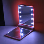 Makeup Cosmetic Folding Portable Compact Pocket Book Purse Mirror LED Lights