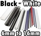 BINDING COMBS CHOICE OF COLOUR AND SIZE BINDER Plastic Binding Comb