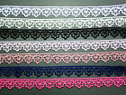 "Quality Guipure Lace Trim 1""/2.5cm WHITE BLACK IVORY/CREAM PINK GOLD/BEIGE"