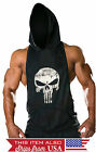 Внешний вид - Hoodie Punisher Tank Stringer Golds Men Bodybuilding Gym Muscle  FAST SHIPPING