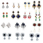 1 Pair New Fashion Elegant Women Vintage Style Rhinestone Dangle Stud Earrings