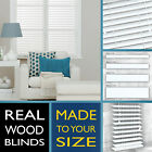 Wood blinds - PURE WHITE - 2 Year guarantee - Style Express venetian wooden