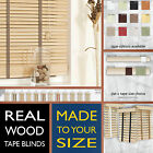 Real wood TAPE blinds - LINEN LOVE - 2 Year guarantee - Style Express