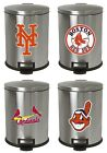 FCR17 NEW STAINLESS STEEL STEP TRASH CAN WASTE BASKET FEATURING MLB TEAM LOGO