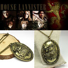 Free Shipping Game of Thrones inspired Cersei Lannister Lion Necklace