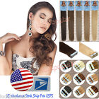 US STOCK 7A Remy Human Hair Extensions Tape in Skin Weft Real Hair Extensions