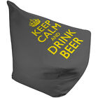 Keep Calm And Drink Beer Grey Yellow Bean Bag
