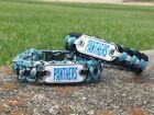 Carolina Panthers Paracord Bracelet w/ NFL Dog Tag and Metal Buckle. AWESOME!!! on eBay