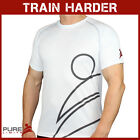 Pure Limits Mens Short Sleeved ELITE DriFit Training Top - White - CrossFit WOD