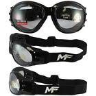 MF Vulcan Goggles Clear Mirror Smoke or Yellow Lens Motorcycle Jet Ski Glasses
