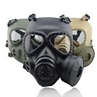Airsoft Painball Tactical Wargame Dummy Gas Protective Mask Cosplay Builtin Fan