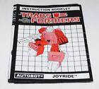 Joyride Action Figure Robot Instruction Manual 1988 Hasbro G1 Transformers - Time Remaining: 15 days 9 hours 30 minutes 36 seconds