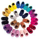 Baby Soft Sole Crib Shoes Infant Boys Girls Toddler Suede Moccasin 0 18 Months