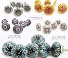 6 CERAMIC KNOBS SET Cupboard Door Drawer Knob Vintage Pull Handle Shabby Chic