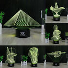 Egypt Pyramid 3D LED Night Light Touch Switch Table Desk Lamp 7 Color Xmas Gift