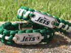 New York Jets Paracord Bracelet w/ NFL Dog Tag and Metal Buckle. JETS AWESOME! on eBay